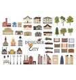 set of city infographics vector image