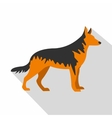 German Shepherd dog icon flat style vector image