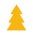 knitted christmass tree yellow vector image