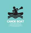 Man Row A Canoe Boat vector image
