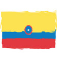 abstract colombia flag or banner vector image vector image