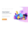 autism center concept landing page vector image vector image