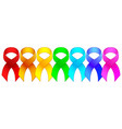 awareness ribbon set vector image vector image