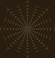 Background Golden spiderweb vector image vector image