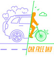 banner world car free day vector image