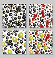 berry pattern set3 vector image vector image