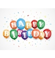 Birthday balloon background vector image vector image