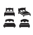 black Bed vector image vector image