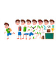 boy schoolboy kid primary school child vector image