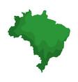 brazilian map isolated icon vector image vector image