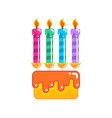 cake for birthday and holiday dessert with vector image