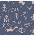 cave petroglyphs vector image vector image