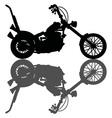 Classic black chopper vector image vector image