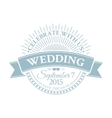Classic wedding vintage badge vector image