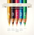 Colorful pencils Concept vector image