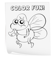 Coloring worksheet vector image