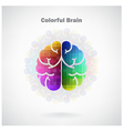 Creative colorful left and right brain Idea concep vector image