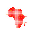 digitally africa red pixels symbol design vector image