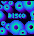 disco poster circles vector image