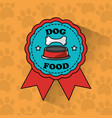 dog food pet medal ribbon banner vector image vector image
