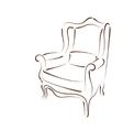 Elegant sketched armchair vector image vector image