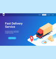 fast delivery lp template vector image vector image
