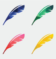 Feather icon Abstract Triangle vector image