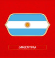 flag argentina is made in football style vector image