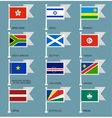 Flags set four-10 vector image vector image