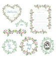 Floral set of design elements and frames for the vector image vector image