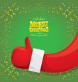 funky cartoon santa claus like hand icon vector image vector image