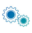gear machine isolated icon vector image vector image
