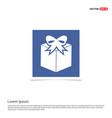 gift box icon - blue photo frame vector image