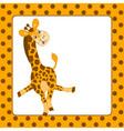 Giraffe Card vector image vector image