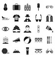 glasses icons set simple style vector image vector image