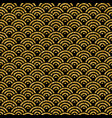 gold glitter traditional asian seamless pattern vector image