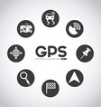 gps signals vector image