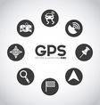 gps signals vector image
