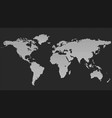 halftone world map background - dot pattern design vector image vector image