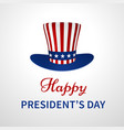 happy presidents day banner with hat vector image vector image