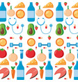health fruit vegetable sport vector image vector image