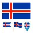 Icelandcountry flag vector image vector image