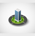 isometric city icon vector image