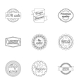 Label set icons in outline style Big collection vector image vector image