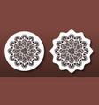 laser cut mandala coasters or wall art panels cnc vector image vector image