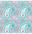 light paisley seamless pattern with floral motifs vector image