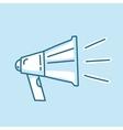 Line icon loud megaphone marketing promotion vector image vector image
