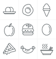 Line Icons Style food icons vector image vector image
