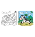 Little Zebra coloring book vector image vector image