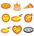 logo icons pizza vector image vector image
